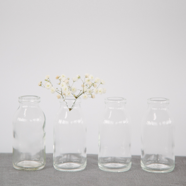 GLASS BOTTLES - MILK BOTTLES -  mini