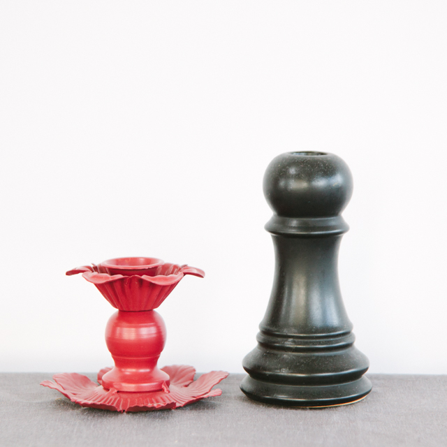 CANDLESTICKS - BLACK & RED - small