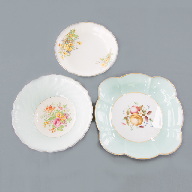 CAKE PLATES & BOWLS - VINTAGE BOWL COLLECTION -  medium & large