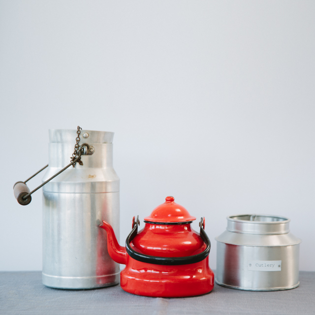 ENAMELWARE - RETRO RED TEAPOT -  small