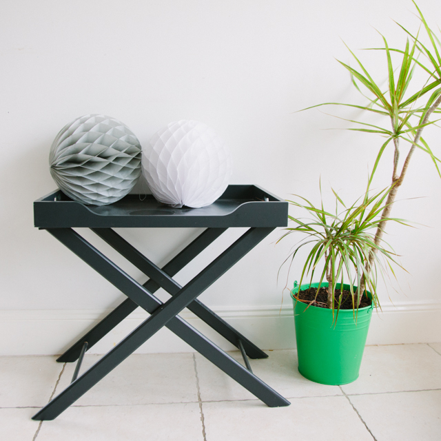 FURNITURE - FOLDING TRAY TABLE - CHARCOAL GREY
