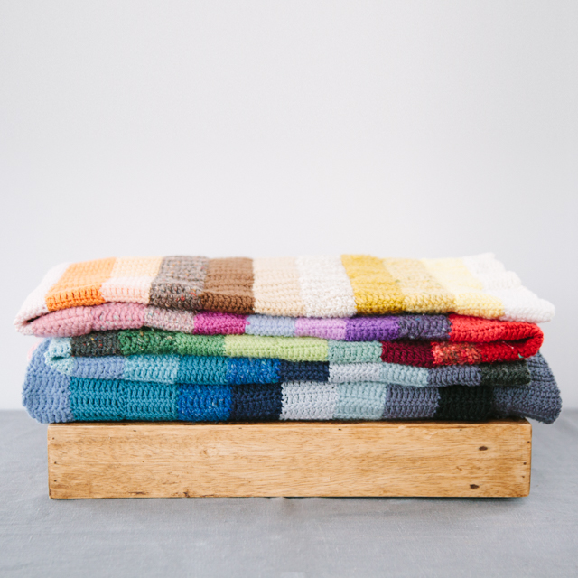 BESPOKE PROPS - HANDMADE UNIQUE THROWS - PLAIN & MULTICOLOURED - large & x-large