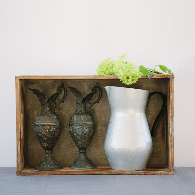 ODDS 'N' ENDS - CAST IRON ORNATE JUGS - medium