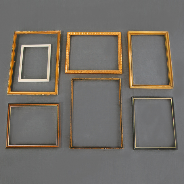 FRAMES - ASSORTED - GOLD, WOODEN, WHITE & BLACK - x-small, small, medium & large