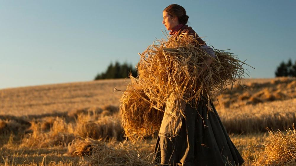Agyness Deyn in a picturesque moment from Terence Davies' new film Sunset Song.     Credit:   deanmackenzie.com/Dean MacKenzie