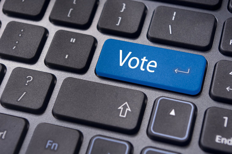 "Did you know: if you Google ""online voting"" this is the first image that pops up?"