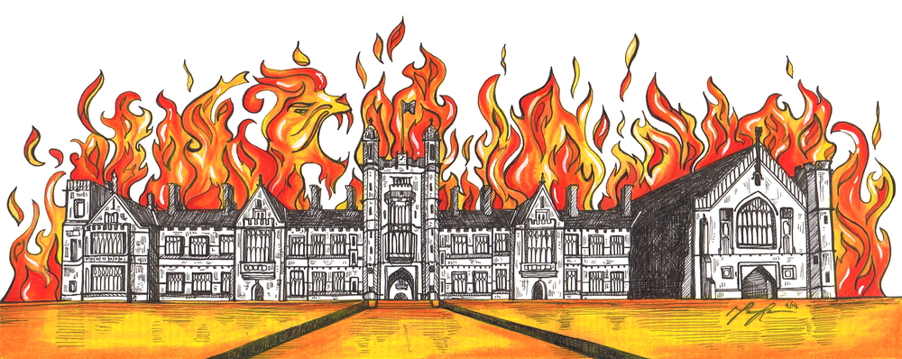 Probable representation of USyd if all of these tickets got elected. Artwork from the amazing Monica Renn made in 2014, check out some of her work here! http://www.redbubble.com/people/littlebluerenn
