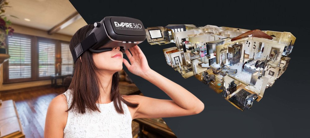 <h1><strong>Virtual Tours</strong></h1><p><strong>Put your audience there with a fully immersive VR Tour experience.</strong></p>