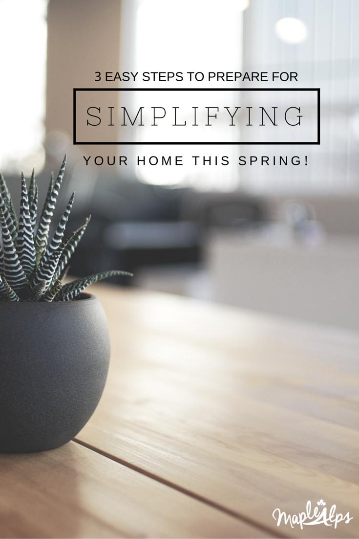 Spring Simplifying