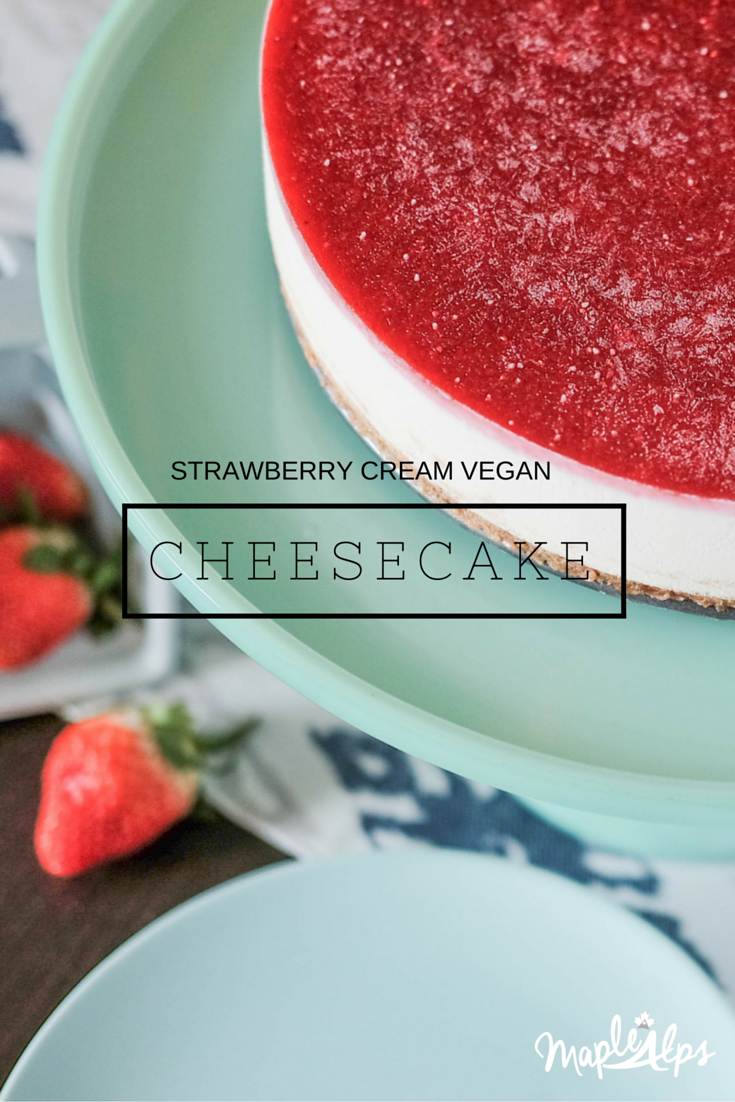 Strawberry Cream Vegan Cheesecake