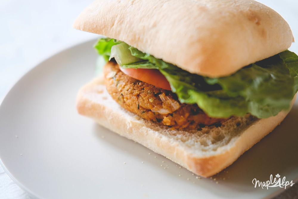 Juicy Smoked Chickpea Burger (vegan with gluten free options)