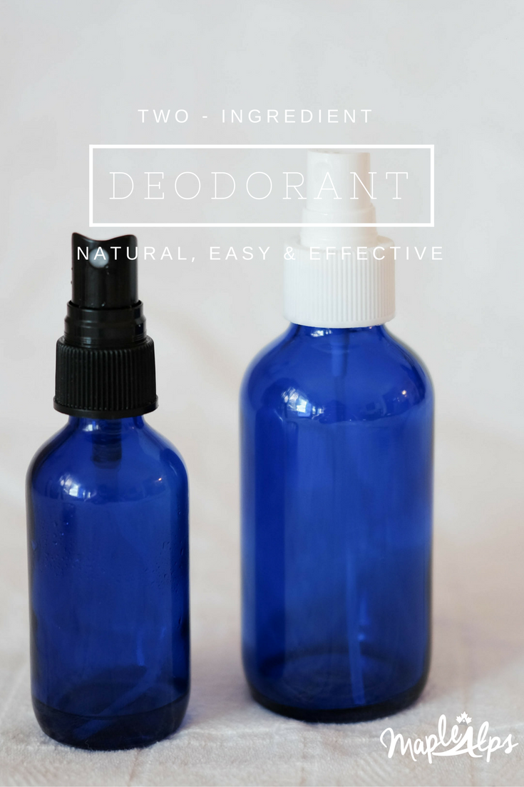 Two-Ingredient deodorant. Natural, easy and super effective! | www.maplealps.com
