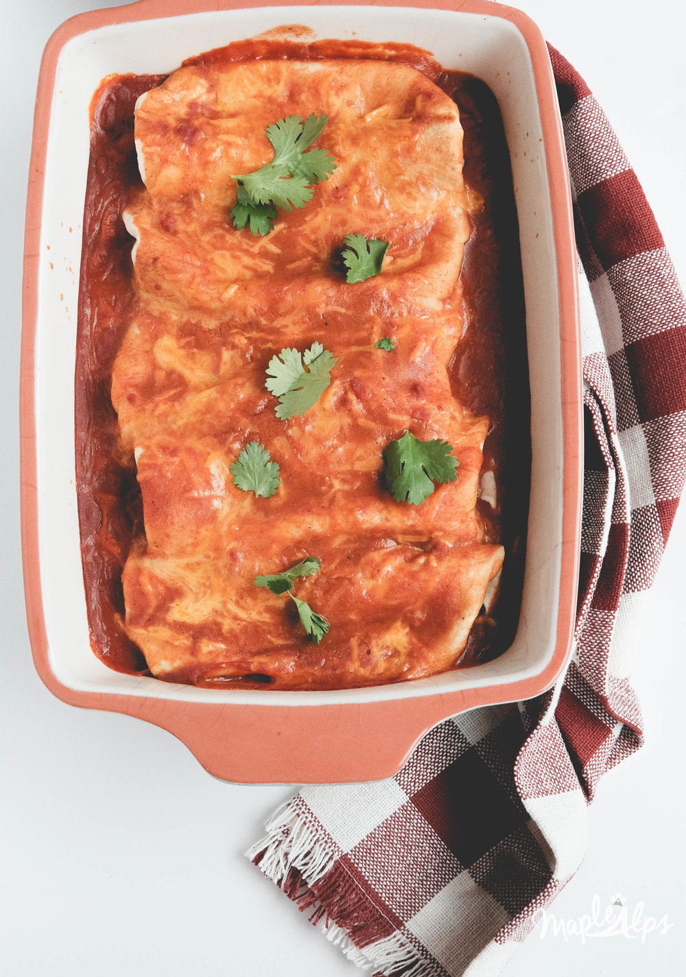 Black Bean & Spinach Enchiladas (vegan) | www.maplealps.com