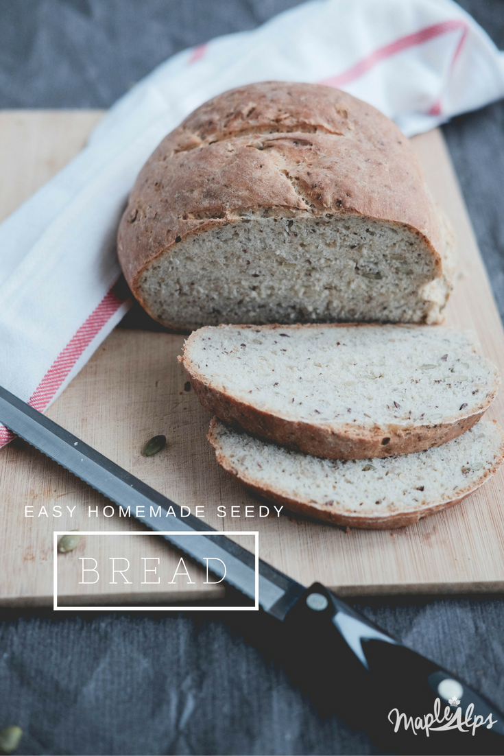 Easy Seedy Bread | www.maplealps.com