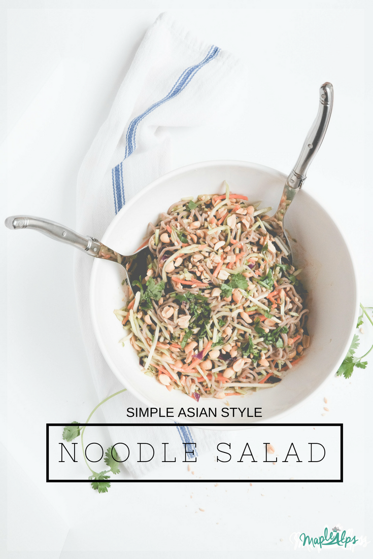 Simple Asian Style Noodle Salad | www.maplealps.com