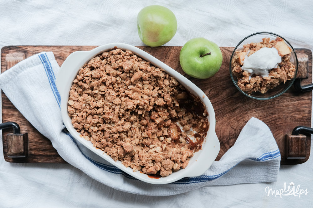 Apple Pumpkin Crisp (vegan) | www.maplealps.com