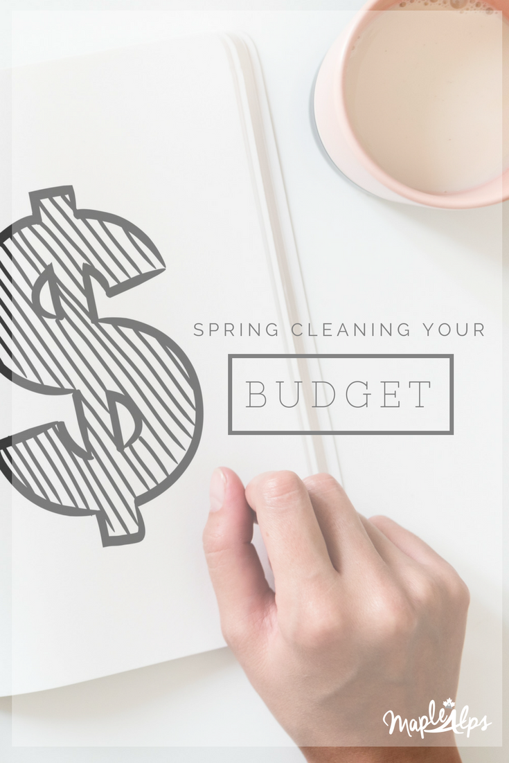 Spring Clean Your Budget | www.maplealps.com