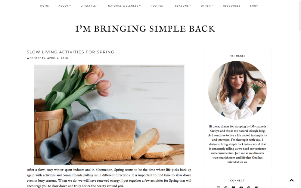 Intentionality Spotlight: Blog Love: Kaetlyn Anne | www.maplealps.com