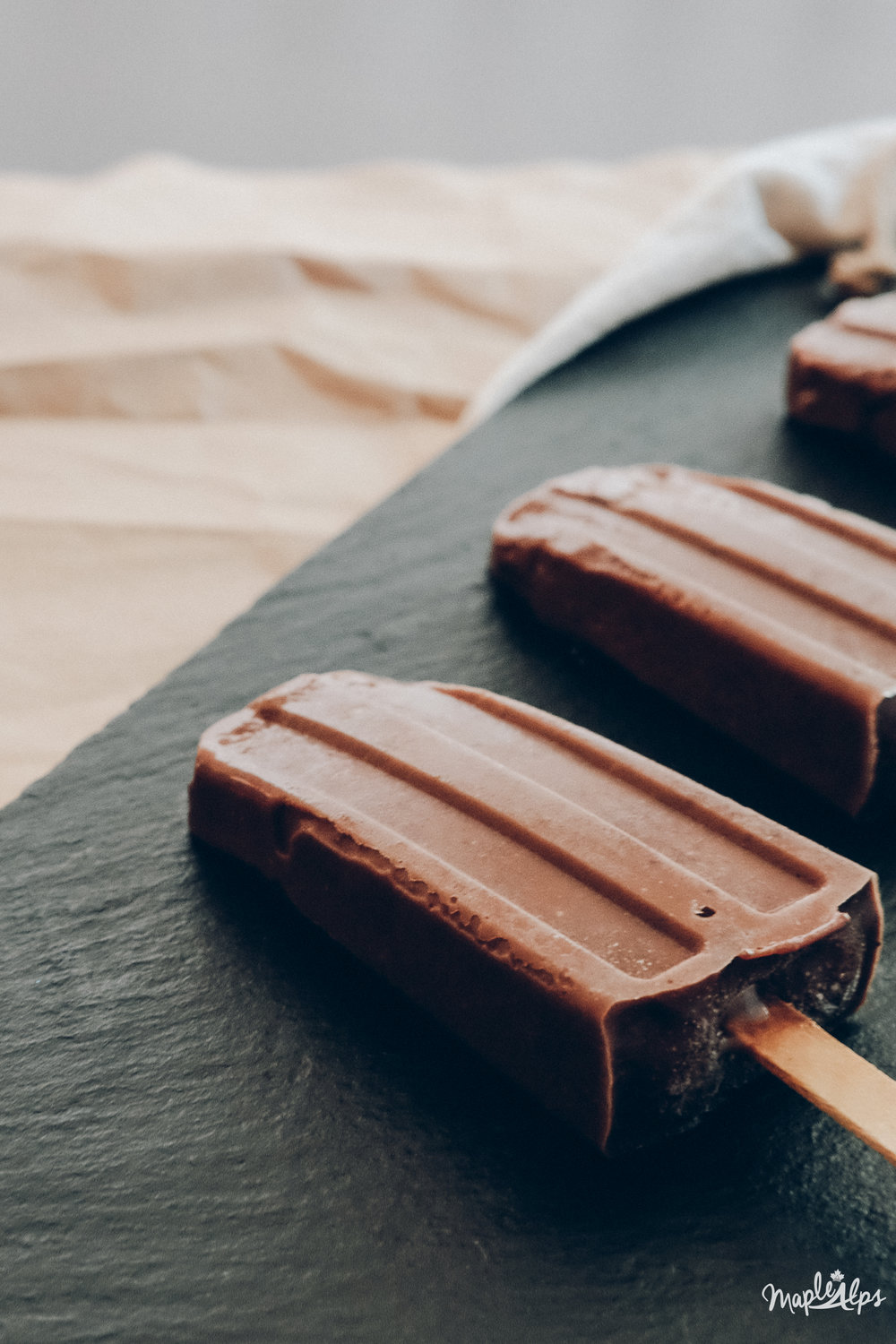 Creamy Chocolate Ice Pops