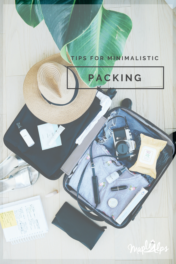 Tricks For Minimalist Packing | www.maplealps.com