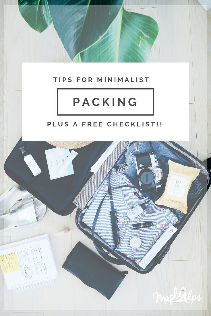 Tricks For Minimalist Packing | www.maplealps.com