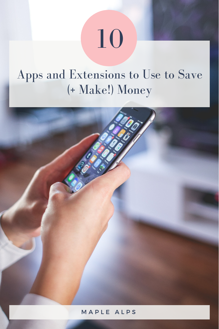 Great apps to use to save money! So glad I came across this article! | www.maplealps.com