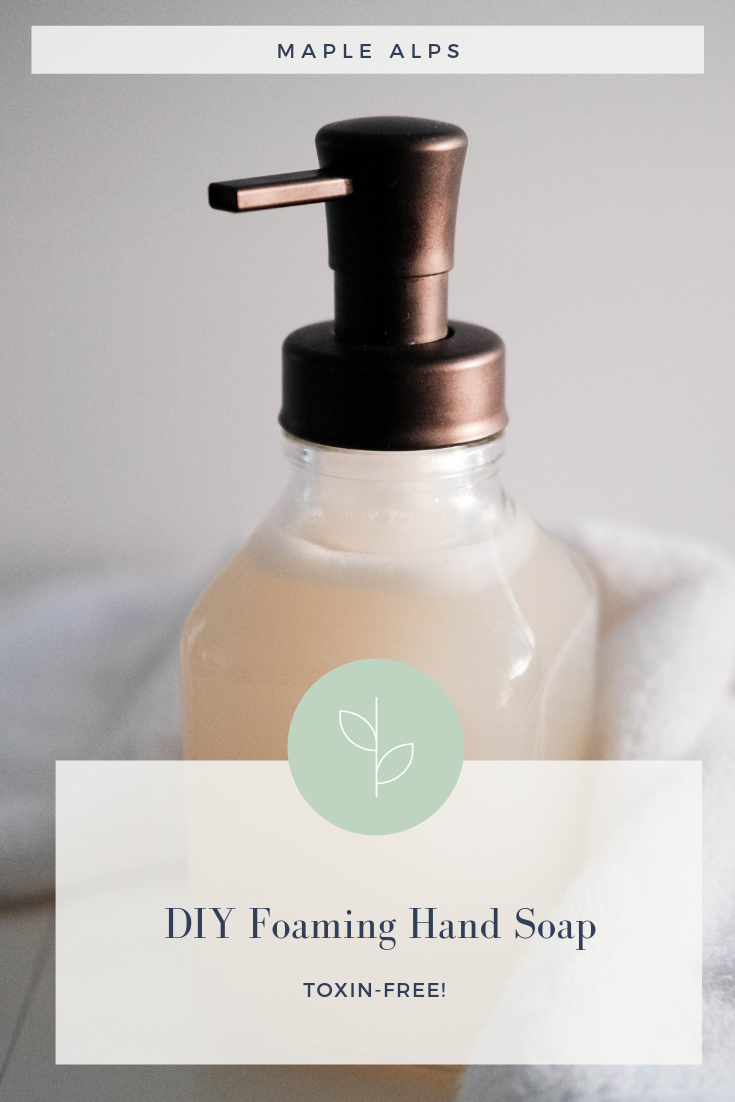 DIY Foaming Hand Soap | www.maplealps.com