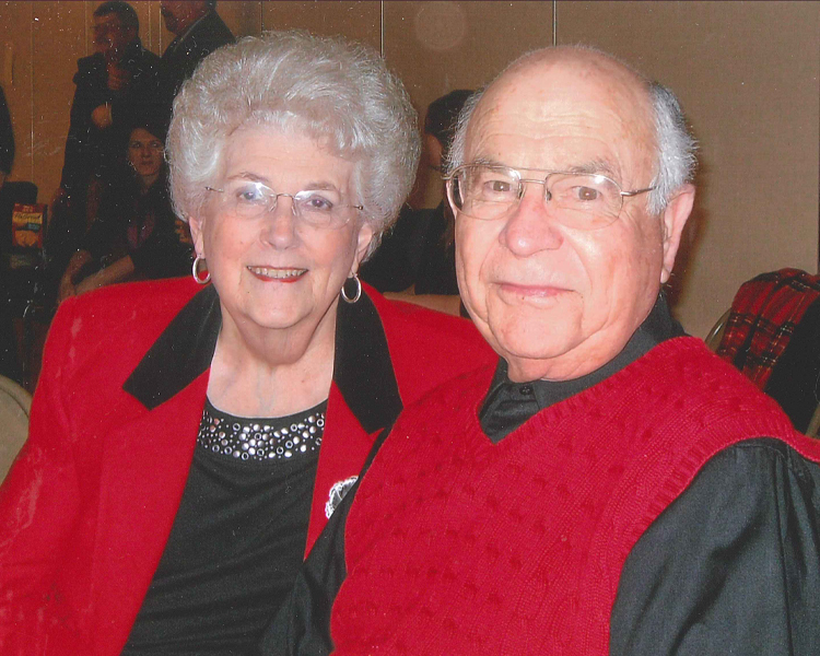 Harrell Graham with his wife Barbara.