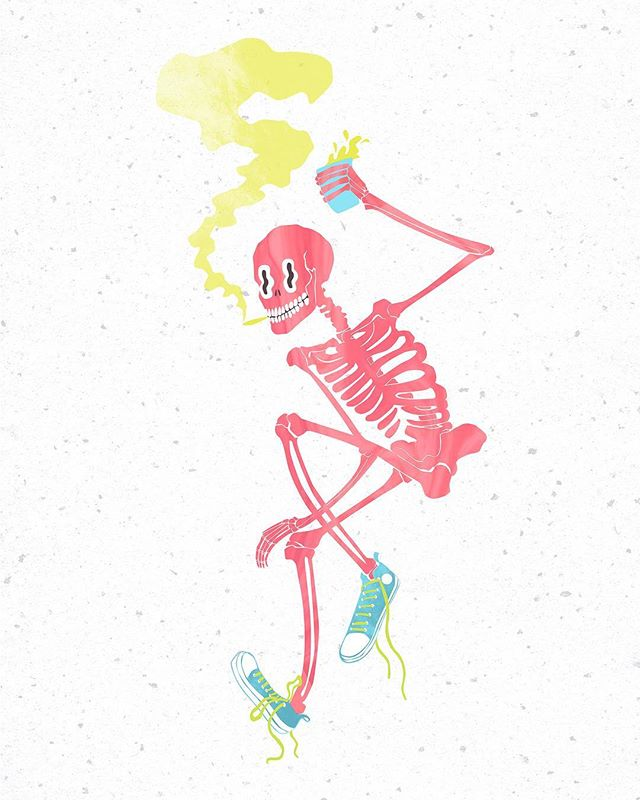 I'm not sure how this little homie never got posted last summer, but all of these skellies I've been doodling lately are bringing me back. . . . #anatomy #figure #creature #selfie #WIP #womenwhodraw #artistsoninstagram #illustration #illustratorsoninstagram #illustratorsofig #pink #skellies #spooky #digitalillustration #illo #girlswhodraw #2017 #brutsubmission #drawloween