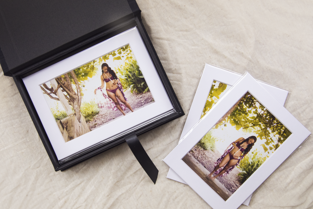 red and fawn portrait folio box photography prints glamour boudoir