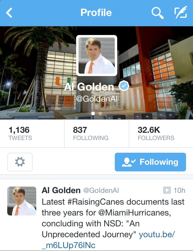 Raising Canes Tweet - Al Golden