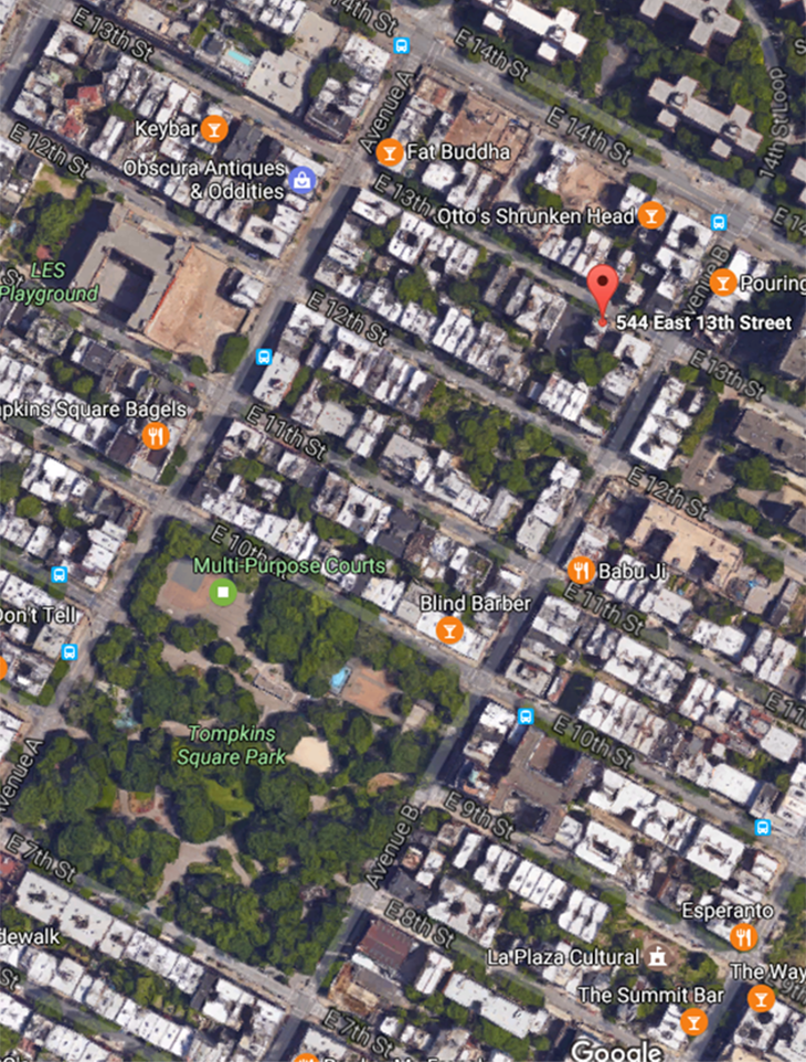 google map 544 E 13th street.PNG