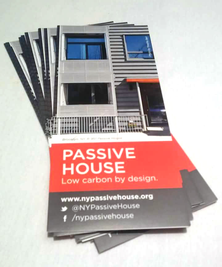 New York Passive House featured the firm's  project R-591  on the cover of the convention trifold.