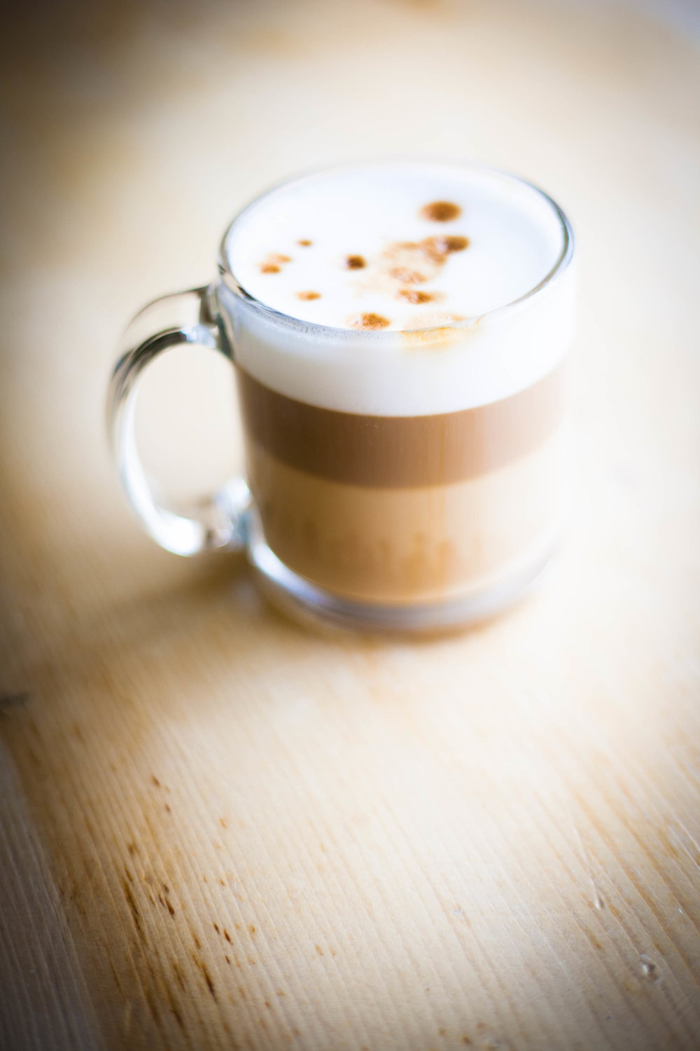 We're famous for our Macchiato around here. Try our James Joyce with a ton of espresso and hint of Irish Cream!