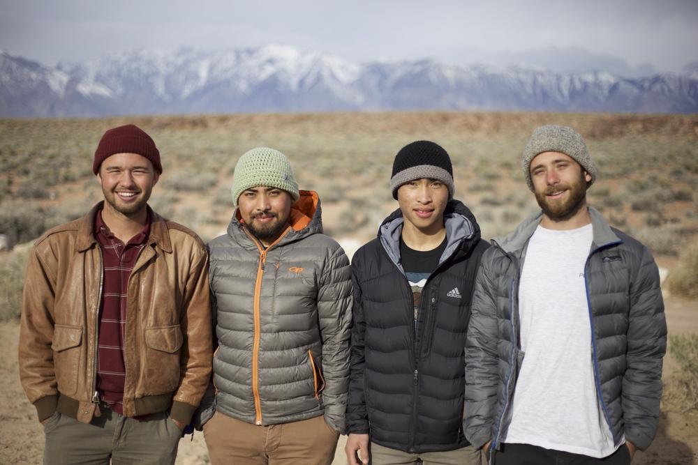 From left to right: Joel Aldous, Me, Joey Catama, Ian Kizanis. Photo: Lindsay Vertullo