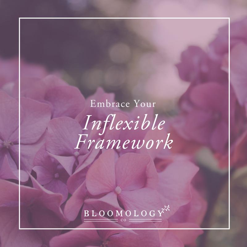 Embrace Your Inflexible Framework | bloomology.co