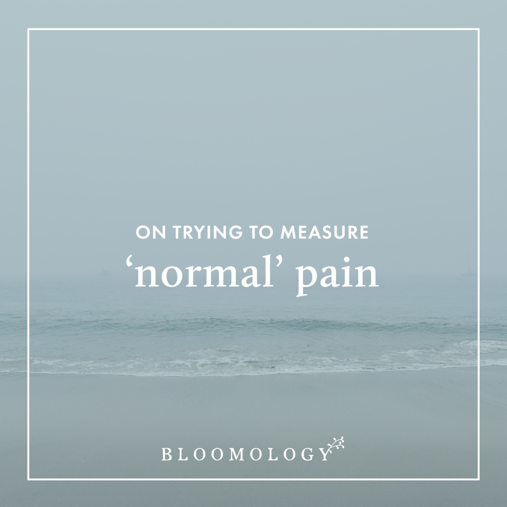 "On Trying to Measure ""Normal"" Pain 