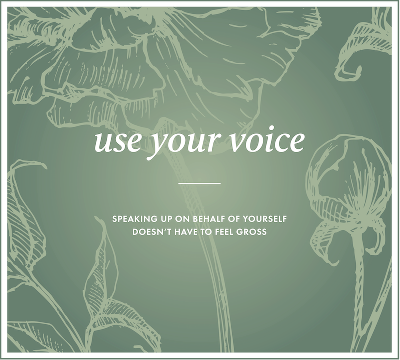the 'use your voice'quiz - A free quiz and custom mini-guidebook designed to help you find your voice by naming the obstacles in your way, unraveling them, and finding the clarity and confidence to start speaking up.Take the quiz and get started