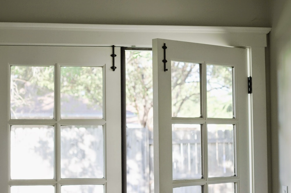 Installing surface bolts on french doors katrina blair - Installing a lock on a bedroom door ...