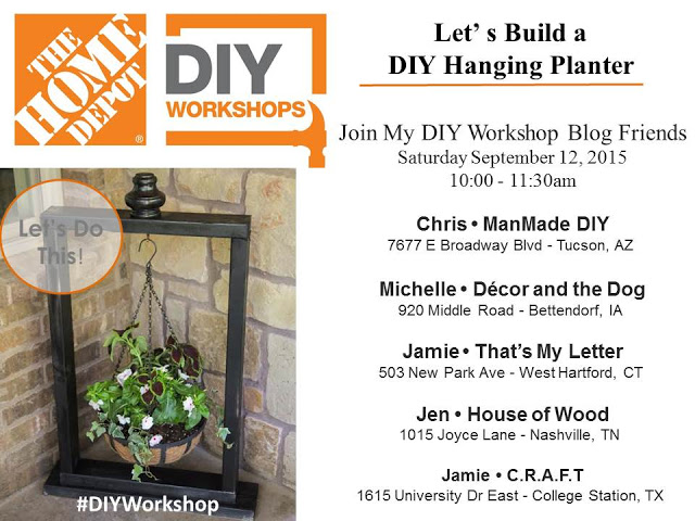 The Country Hosting DIY Workshops At Home Depot Stores I Hope Your Able To Join Them Store Locations Please See Below For More Information