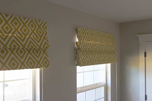 How to make no sew roman shades interior design small for Exterior no chain window shade