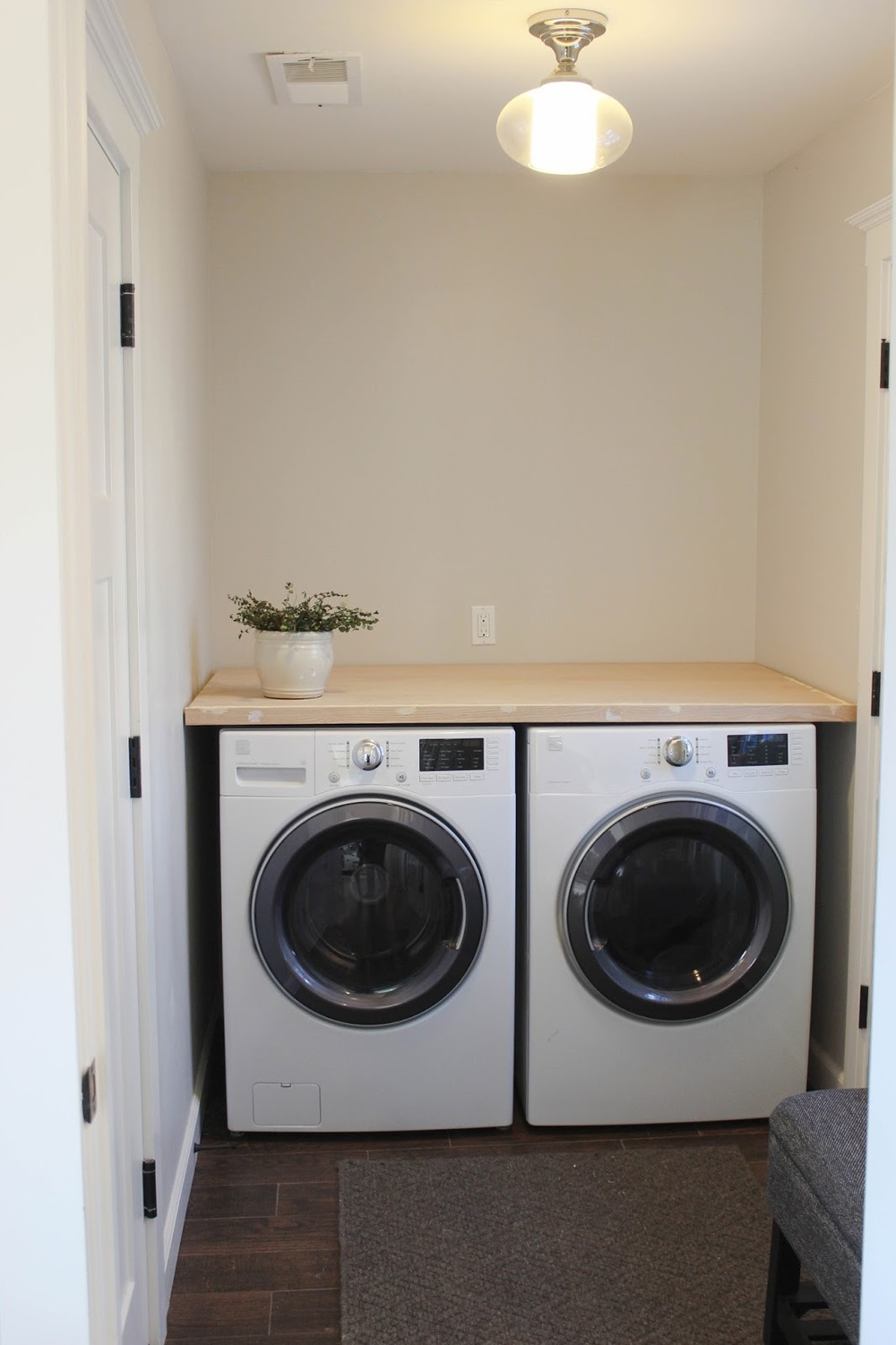 diy laundry room countertop chic little house