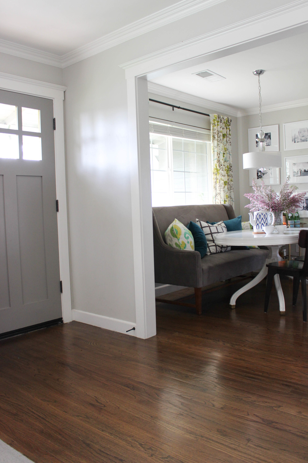 Hereu0027s A Look At Our Dining Room A Four Months After Moving Back Into Our  Home. I Came Across The Perfect Vintage Blonde Dining Room Table And Gave  It A ...