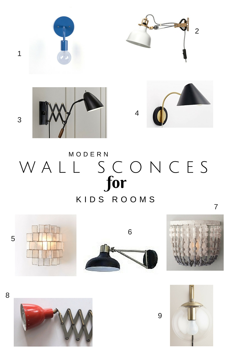 Wall Sconces in Kids Rooms Chic Little House