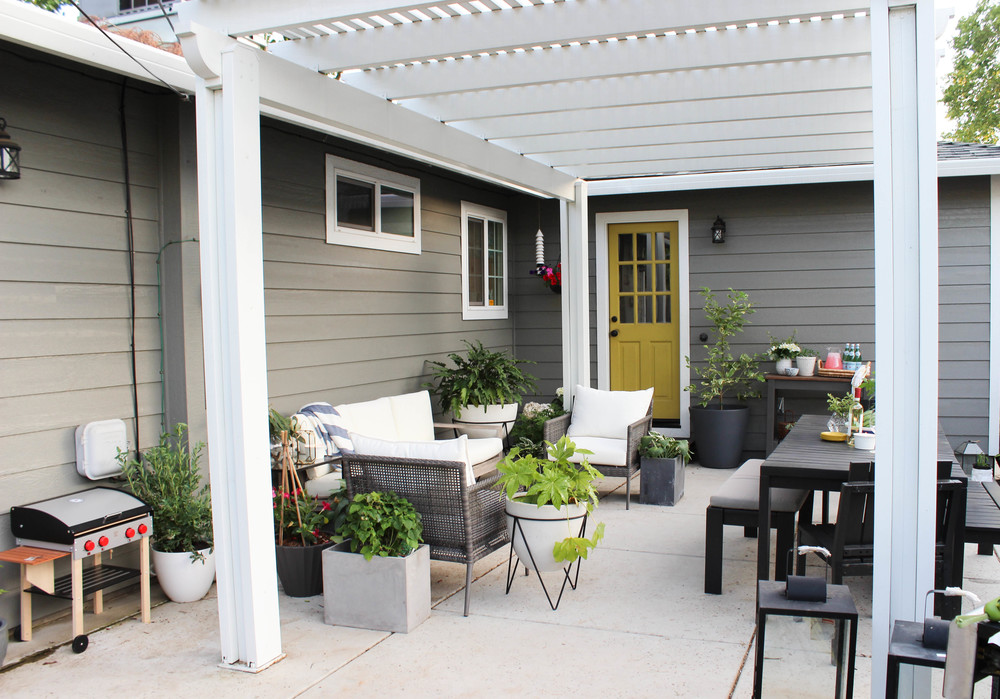 My Patio Progress: California Casual + Hamptons Backyard Style