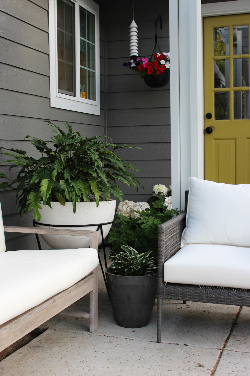... Patio Or Porch Is A Fun, Eclectic Way To Add Style To Your Patio. I  Also Love That You Can Easily Move Your Planters   Around Creating A Whole  New Look.