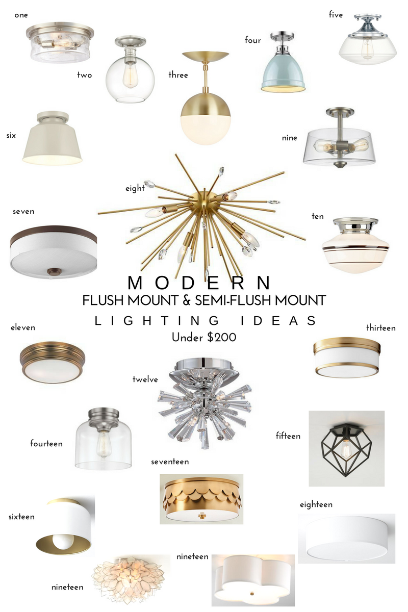 20 modern flush mount u0026 semi mount lights - Semi Flush Mount Lighting