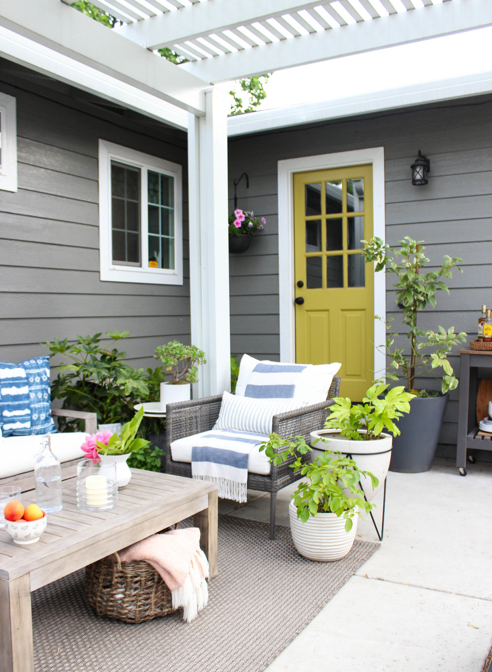 I M Super Excited To Share How Our Patio Is Shaping Up For Summer Right Next To Our Back Patio Door We Have A Variegated Dwarf Pink Lemonade Tree