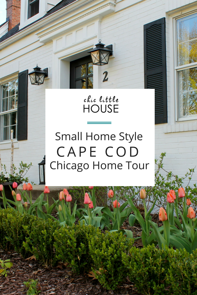 Small Modern Cape Cod House Plan Cathedral Ceiling 1 Car: Small Home Style: Cape Cod Chicago Home Tour