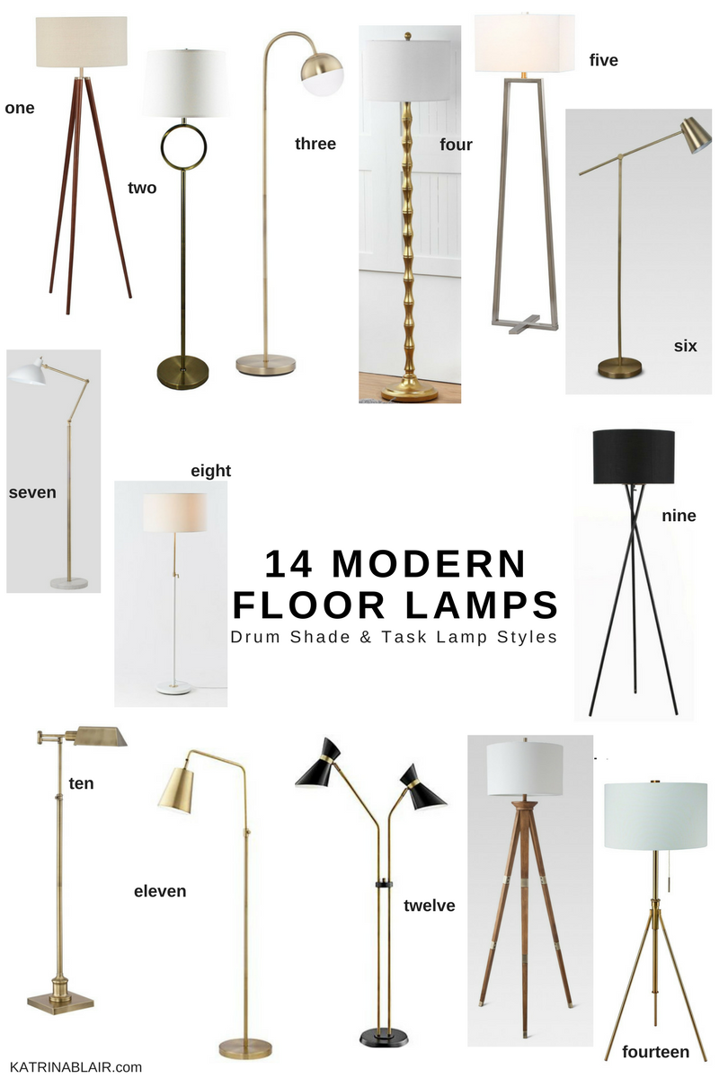 14 Modern Floor Lamps, Drum Shade & Task Lamp Style.png